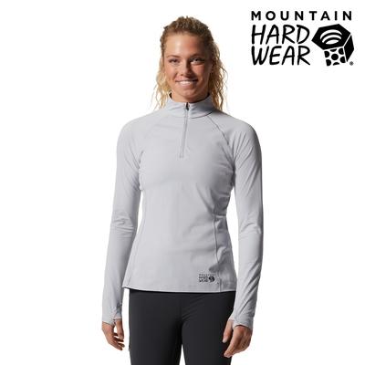 【Mountain Hardwear】Mountain Stretch 1/2 Zip 彈性快乾立領半拉長袖排汗女款 冰河#1942551