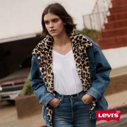Levis 女款 深V短袖T恤 復古寬鬆版型