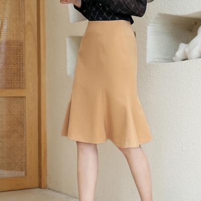 設計所在Lady-寬鬆荷葉邊A字時尚包臀裙(三色S-2XL可選)