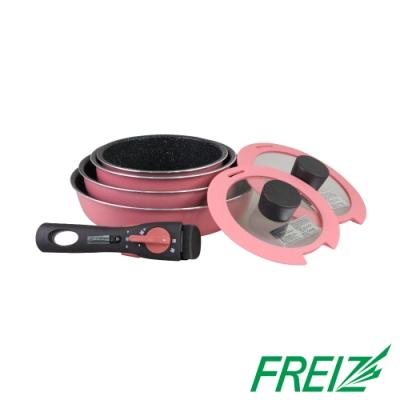 【日本_和平Freiz】Maebrasse大理石不沾鍋具組.套件鍋組-7件式