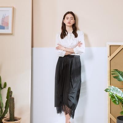 Cop.Copine 法國原裝進口3D精緻蕾絲空氣感繭型拼接設計長裙