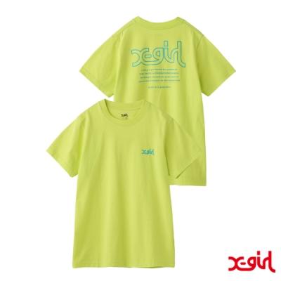 X-girl XG WORDS SS RGLR T短袖T恤-黃