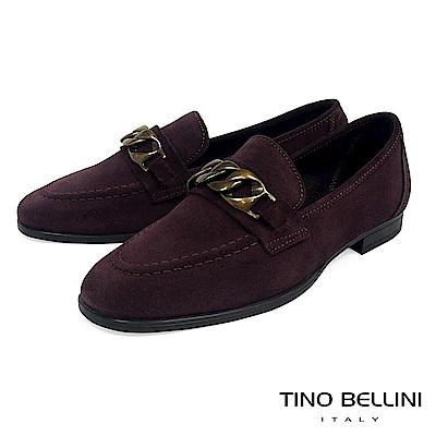 Tino Bellini 義大利進口歐式宮廷風環釦樂福鞋 _ 深栗