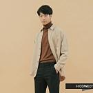 H:CONNECT 韓國品牌 男裝-素面口袋嫘縈襯衫-卡其