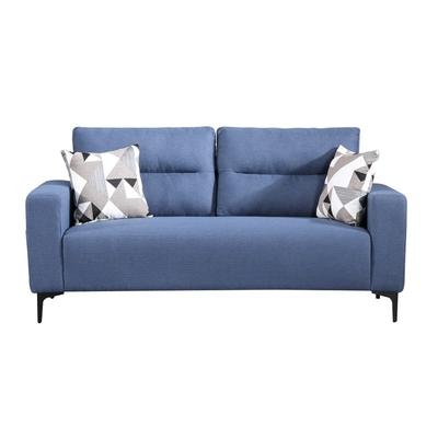 MUNA 3207型藍色三人椅布沙發 188X90X78cm