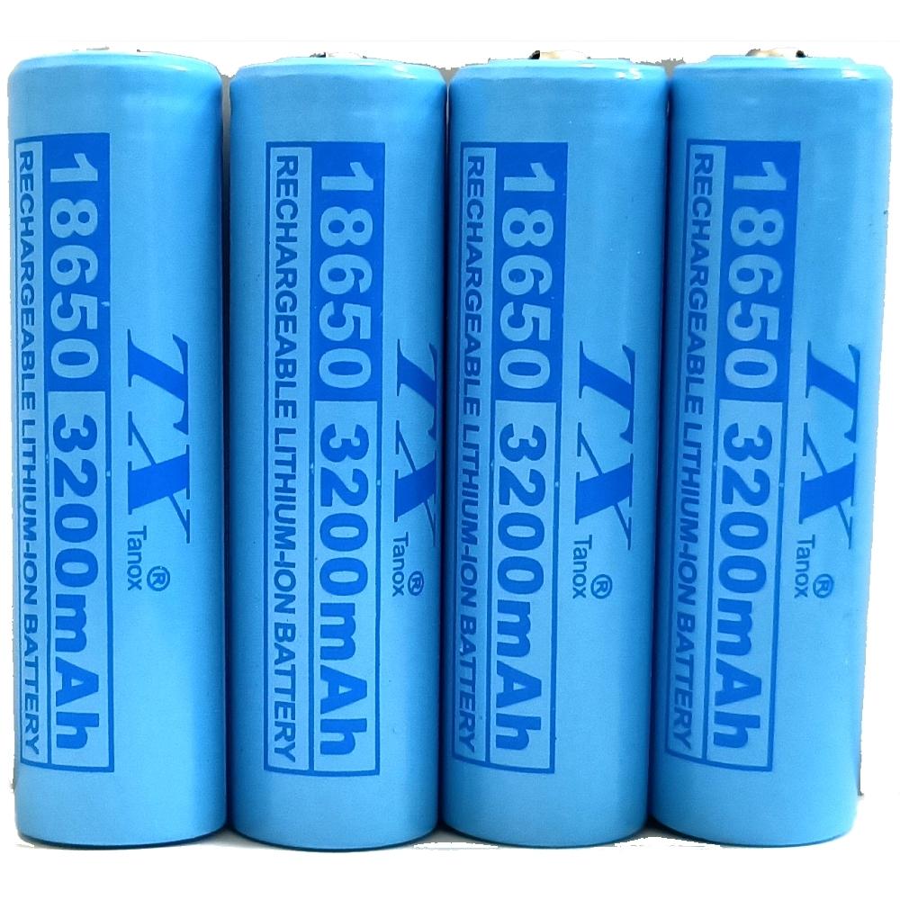 TX特林安全認證18650鋰充電池3200mAh4入(T-Li3200-4)