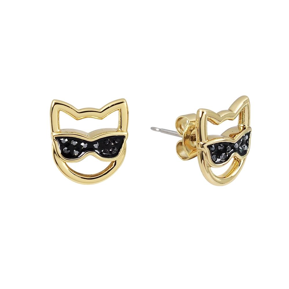 Karl Lagerfeld CHOUPETTE SUNGLASSES墨鏡貓咪造型金色耳環