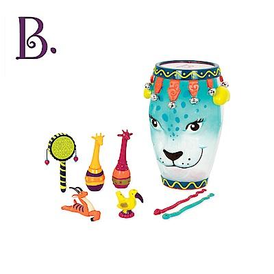 美國【B.Toys】非洲豹戰鼓(藍)