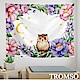 TROMSO 北歐時尚生活掛毯-D305花語貓頭鷹 product thumbnail 2
