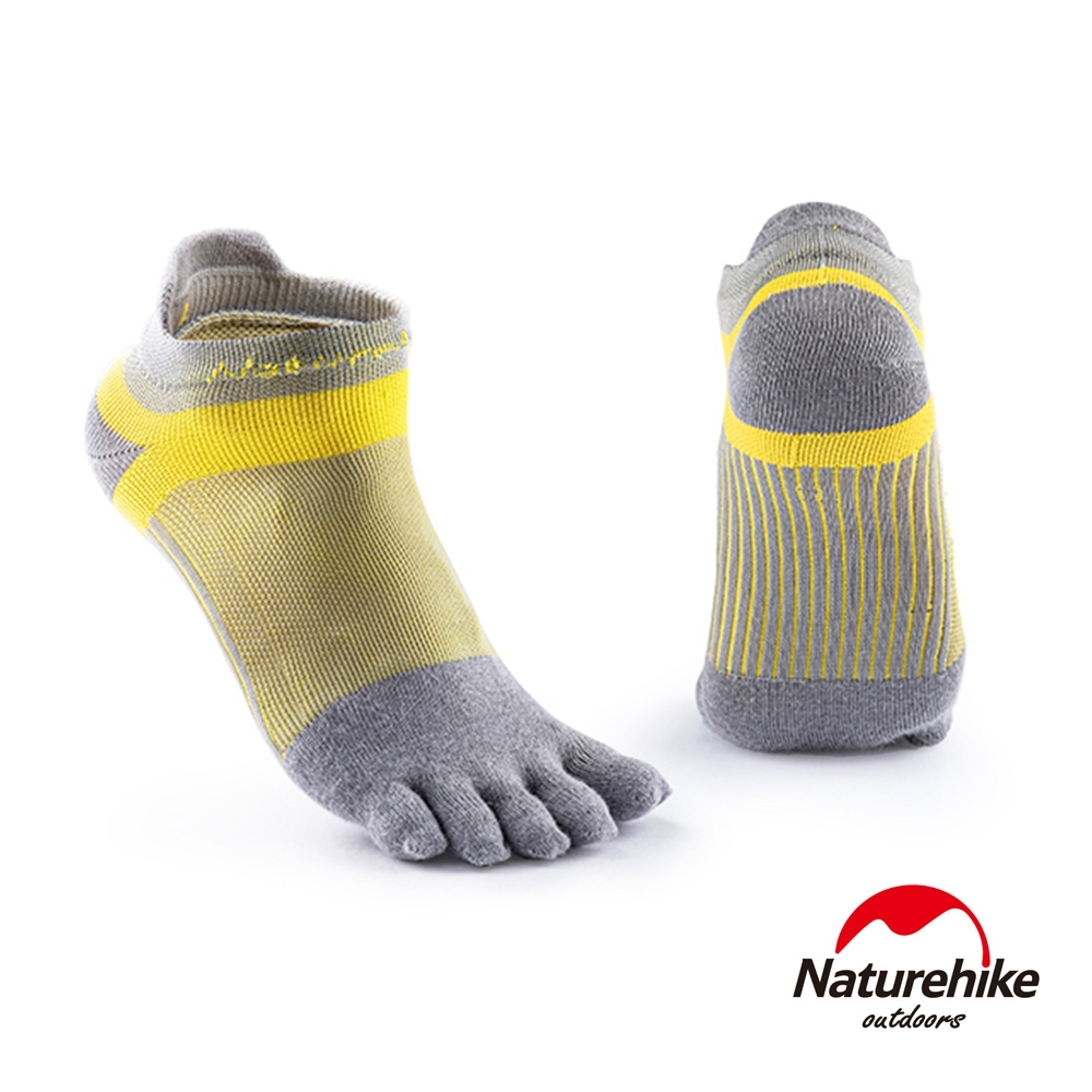 Naturehike 暖笙coolmax快乾排汗運動機能五指襪 短踝襪 淺灰