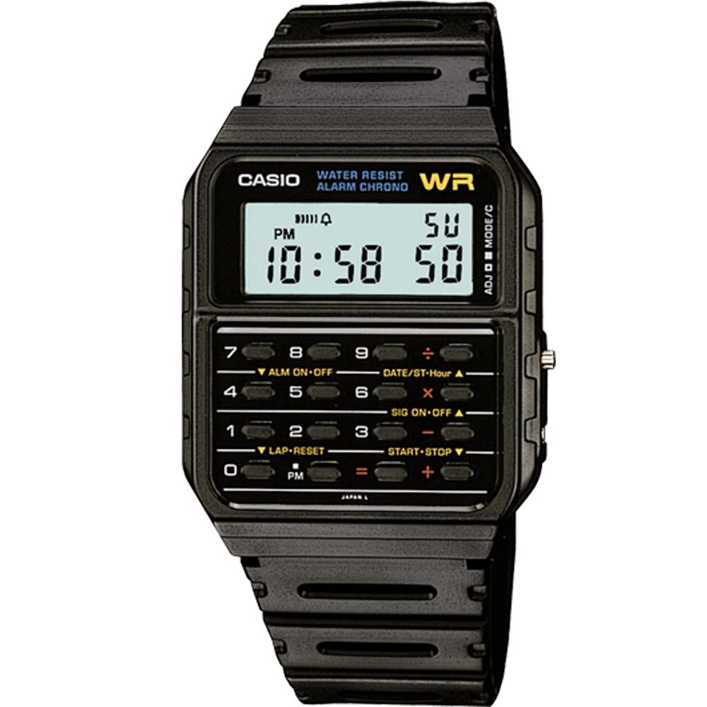 CASIO 回到未來電影御用配戴復古計算機錶-(CA-53W-1)