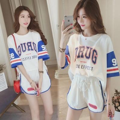 【韓國K.W.】(預購) 輕鬆百搭字母運動套裝褲-3色
