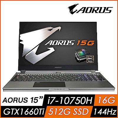 技嘉 AORUS 15G SB 15吋機械軸電競筆電(i7-10750H/GTX16