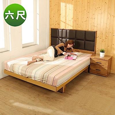 BuyJM拼接木系列雙人加大6尺2件式房間組(床頭片+日式床底)-免組