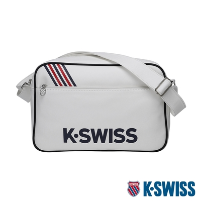 K-SWISS CT LEATHER BAG BIG 1皮革側背包(大)-白