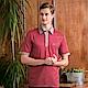 PAUL MAURIAT波爾.瑪亞吸溼排汗短袖POLO衫-紅底白細條 product thumbnail 1
