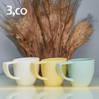 3,co 海洋斜月濃縮杯(三色組) - 白+黃+綠