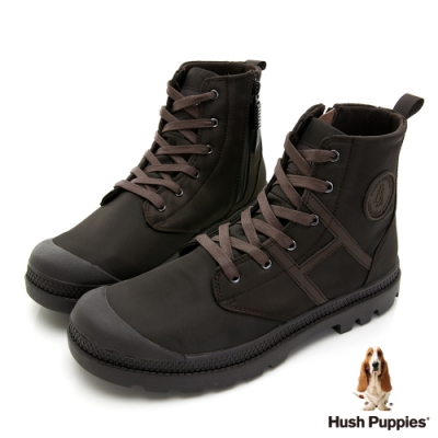 Hush Puppies 質感防潑水休閒男靴-灰
