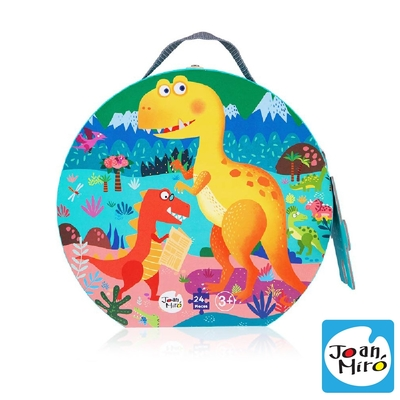 【JoanMiro 原創美玩】兒童地板拼圖-恐龍樂園(24PCS) JM10551
