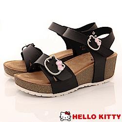 HelloKitty童鞋 厚底涼鞋款 EI18179黑(中大童段)