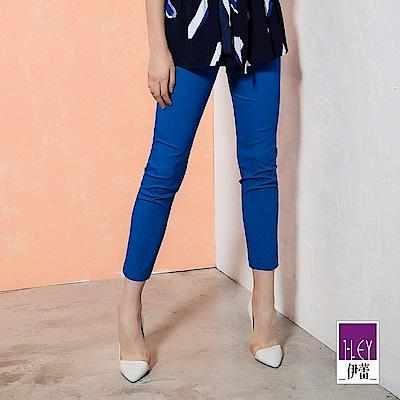 ILEY伊蕾 健康美麗鍺彈性九分窄管褲(灰/藍)