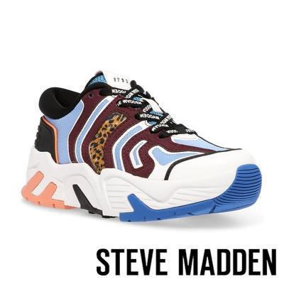 STEVE MADDEN-ULTRABOOST 拼接鋸齒運動休閒鞋-撞色藍