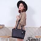 KINAZ 完美心願兩用斜背托特包-星空夜黑-甜蜜禮盒系列