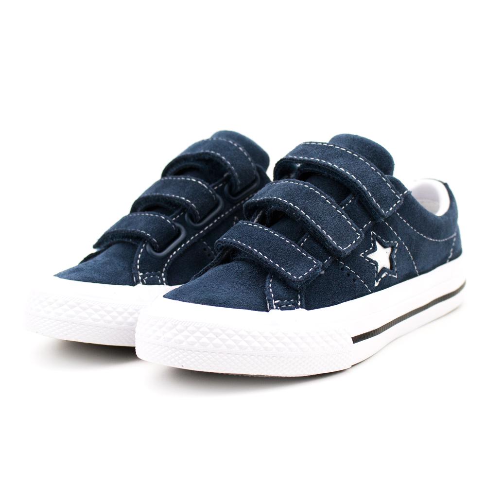 Converse 中大童休閒鞋-658492C 藍