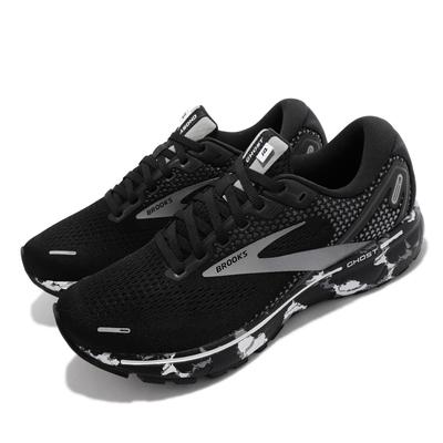 Brooks 慢跑鞋 Ghost 14 運動休閒 男鞋 避震 3D彈力列印科技 穩定 路跑 黑 灰 1103691D090