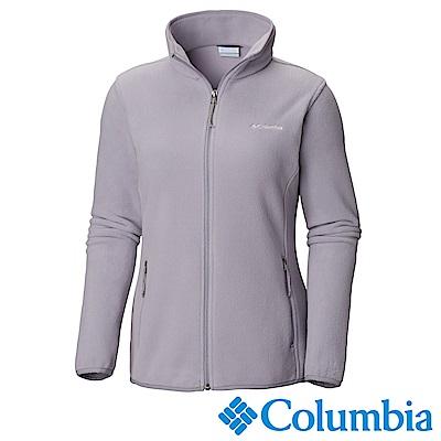 Columbia 哥倫比亞 女款-立領刷毛外套-灰藍 UAR67640CB