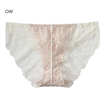 aimerfeel 蕾絲無痕內褲-米白色-170721-OW
