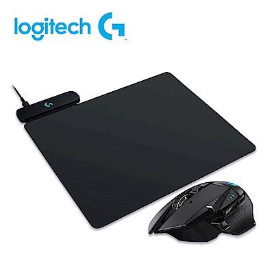 羅技 G502 LIGHTSPEED 高效能無線電競滑鼠+POWERPLAY 無線充電遊戲滑鼠墊
