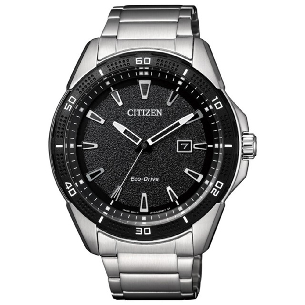 CITIZEN 星辰 Eco-Drive 光動能百搭商務腕錶-黑(AW1588-57E)