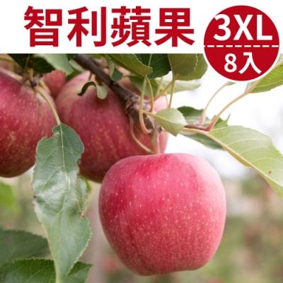 [甜露露]智利富士蘋果3XL 8入禮盒(2.8kg)