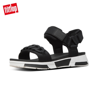 FitFlop HEDA CHAIN BACK-STRAP SANDALS 運動風後帶涼鞋-女(黑色)