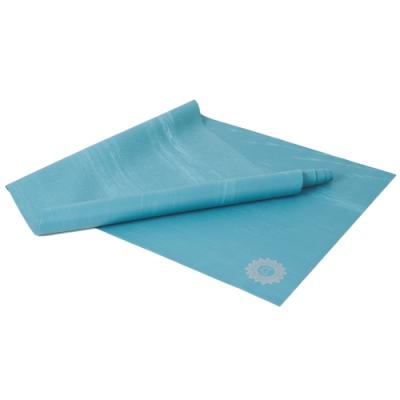 LOTUS 瑜珈墊 台灣製可折疊乾溼止滑天然橡膠旅行瑜珈墊1.5mm 極光之旅