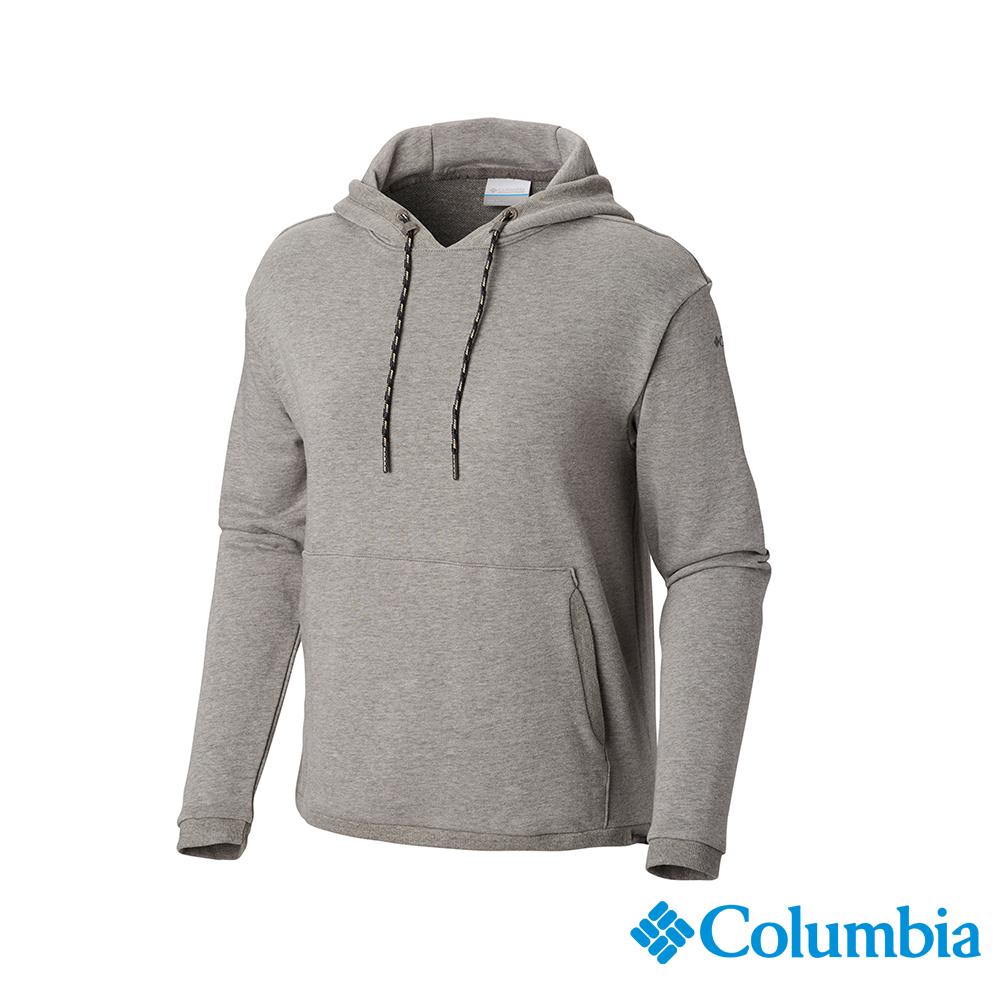Columbia 哥倫比亞 女款-UPF50棉質連帽上衣-灰色 UAR25610GY