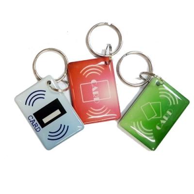 LY003 10張 雙面滴膠IC卡 方型IC鑰匙扣卡 感應卡 紐扣卡 複旦IC卡