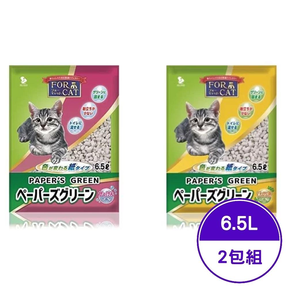 日本FOR CAT-變色凝結紙砂 (檜木香/肥皂香) 6.5L (2包組)