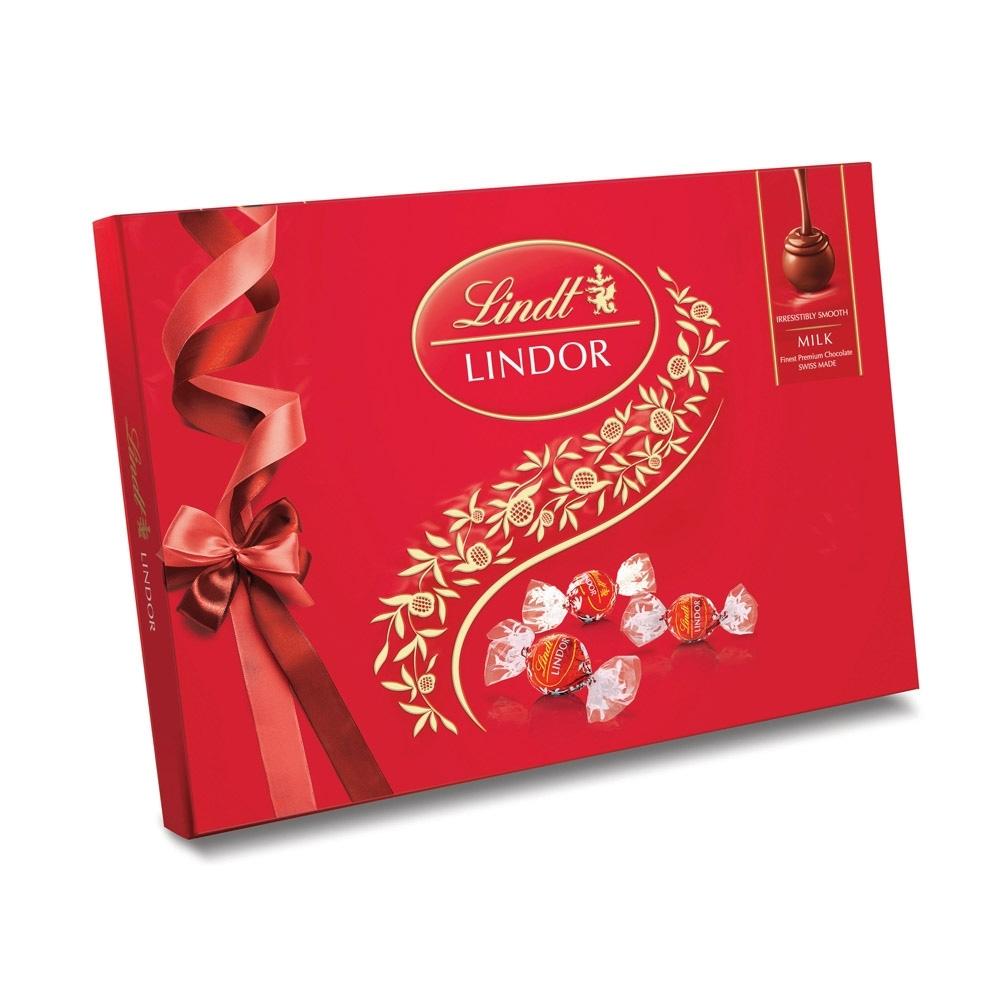 Lindt瑞士蓮 Lindor夾餡牛奶巧克力禮盒 14入(168g)