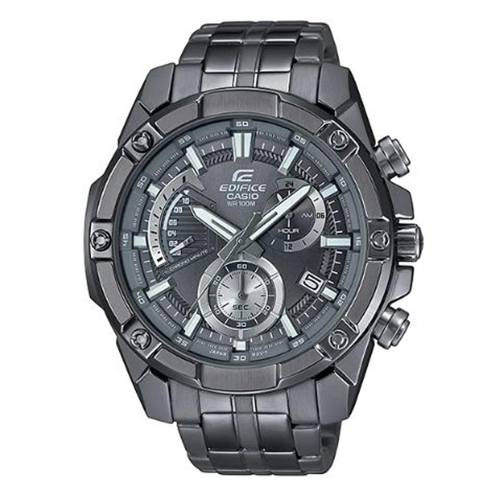 EDIFICE 最終騎士扇形三眼設計復古賽車腕錶(EFR-559GY-1A)/59.5mm
