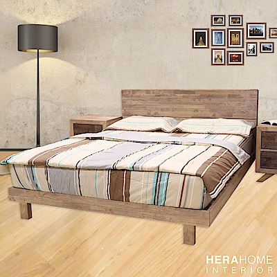 HERA Mattress 實木風化床架 雙人加大6尺 (淺色)