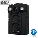 【CHICHIAU】1080P WIFI超廣角170度防水紅外線隨身微型密錄器(64G)
