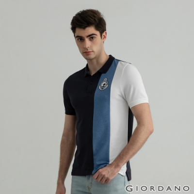 GIORDANO 男裝Supremacy POLO衫 - 21 藍/白