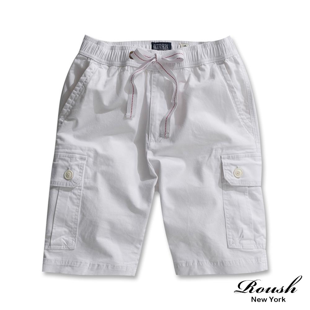 Roush 重磅雙口袋水洗抽繩工裝短褲(5色)