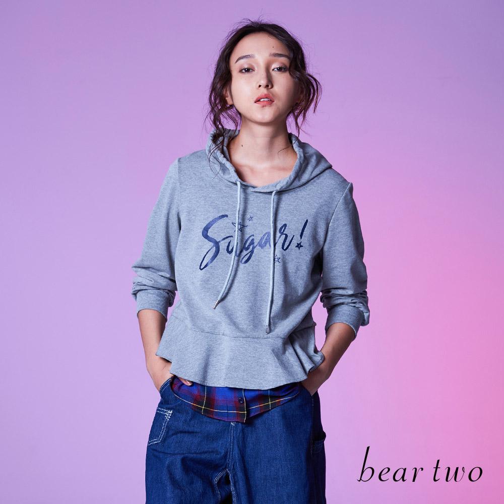 beartwo 假兩件文字大學T (2色)