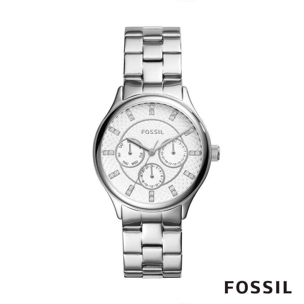 FOSSIL Modern Sophisticate三眼不銹鋼手錶 36mm BQ1560