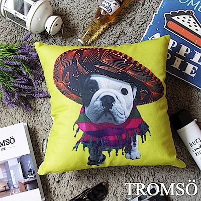TROMSO 品味英倫棉麻抱枕-墨西哥法鬥