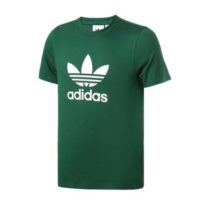 adidas 上衣 短袖上衣 運動 慢跑 健身 男款 綠 GJ8295