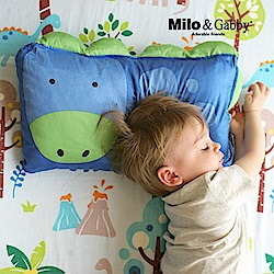 Milo&Gabby動物好朋友-超細纖維防蹣抗菌mini枕心枕套組(DYLAN恐龍)